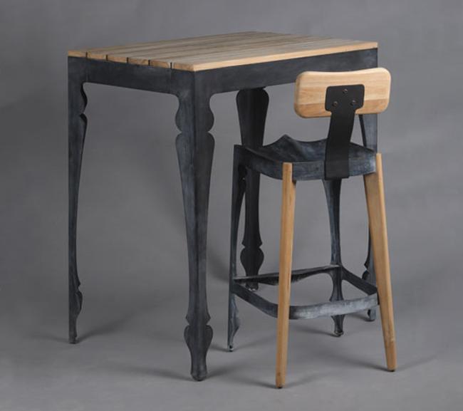 New Louis Hybrid Bar Chair and Bar Table