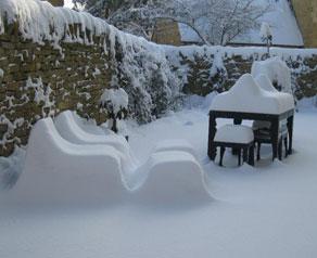 Louis Zinc in the winter snow
