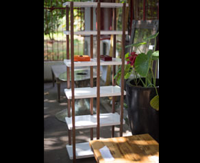Japan shelving is a beautiful tall storage solution that is open and light, whilst being a great way to showcase your objet.