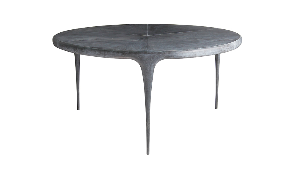 Metal Top Dining Table Fabulous Appealing Pedestal