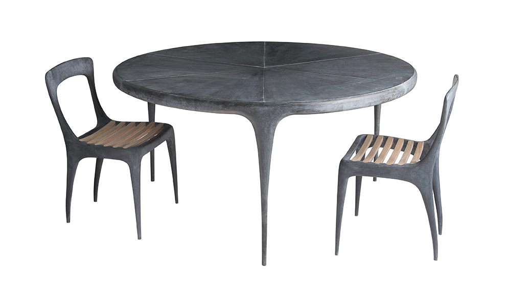 Metal Top Dining Table : CAST Round Dining Table Metal Top - CAST - Products - Reeves Design