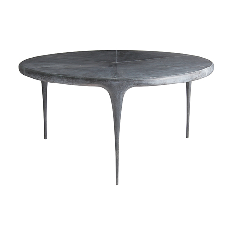 cast round dining table metal top cast products reeves design. Black Bedroom Furniture Sets. Home Design Ideas