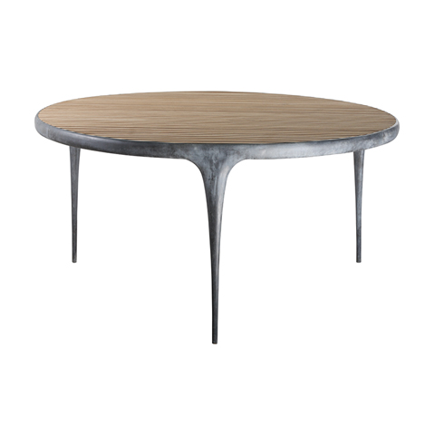 CAST Round Dining Table Teak Top