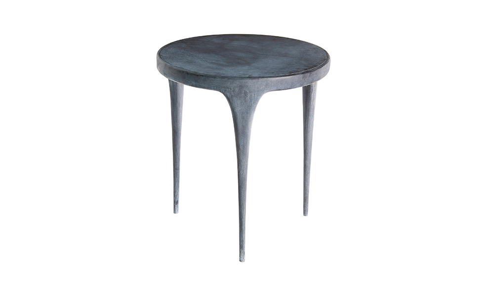 Beau CAST Round Side Table Metal Top