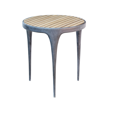 CAST Round Side Table Teak Top