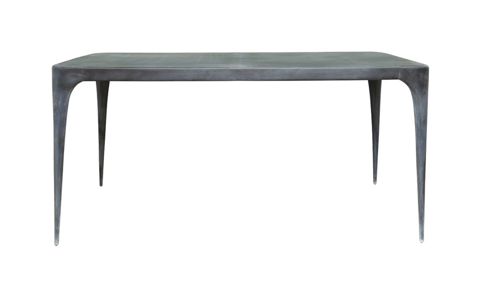 CAST Rectangular Dining Table Metal Top Outdoor  : CAST Rectangular Table with metal topFront from www.reevesd.com size 992 x 600 jpeg 22kB