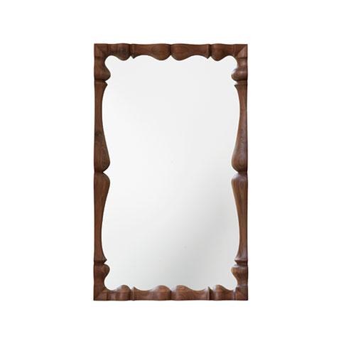 Louis Rectangular Mirror Solid Wood