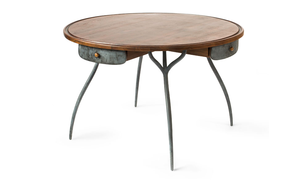Talon Round Card Table and Dining Table
