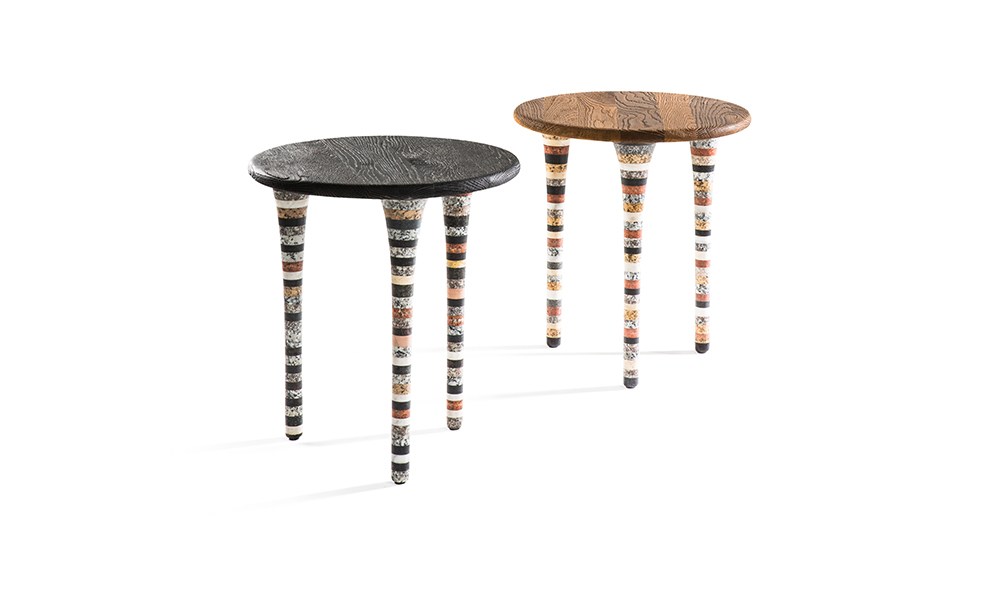Upcycled Marble Round Side Table Upcycled Products