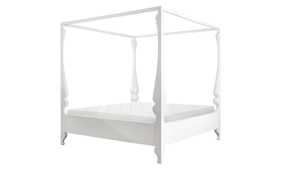 White four poster bed full size
